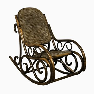Rattan & Cane Rocking Chair, 1980s