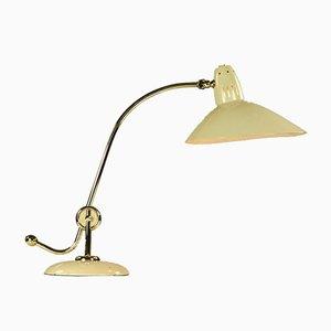 Vintage Bauhaus Tischlampe aus Messing von HALA - Hannoversche Lampenfabrik, 1940er