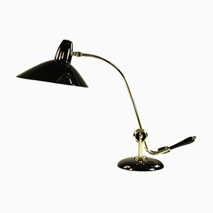 Vintage Black and Brass Table Lamp from HALA - Hannoversche Lampenfabrik, 1940s