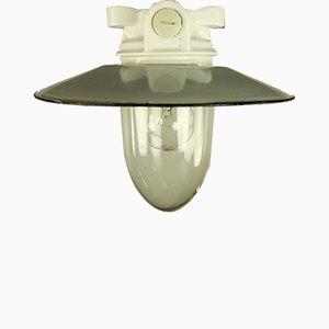 Emaillierte Vintage Deckenlampe aus Porzellan, 1950er