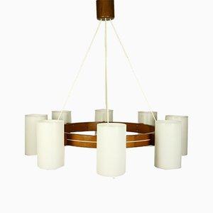 Lámpara de araña sueca grande de Uno & Östen Kristiansson para Luxus, años 60