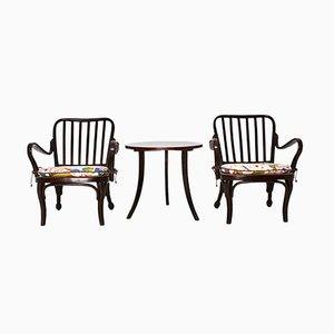 Chaises de Salle à Manger et Table Basse Modèle A752 par Josef Frank, années 30