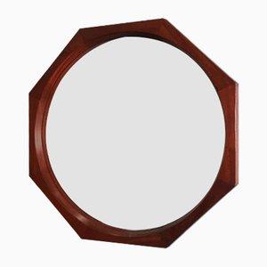 Spiegel mit Rahmen aus Teak, 1950er