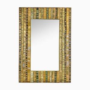 Specchio in vetro di Murano con mosaico di Dusciana Bravura