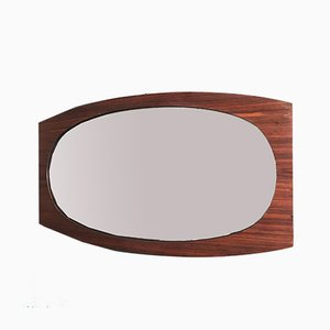 Rosewood & Formica Mirror, 1950s
