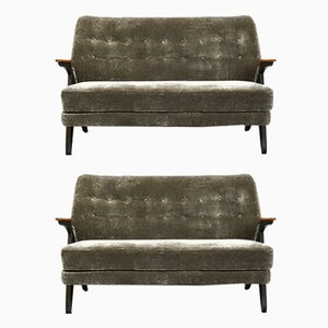 Swedish Velvet Sofas, 1960s, Set of 2