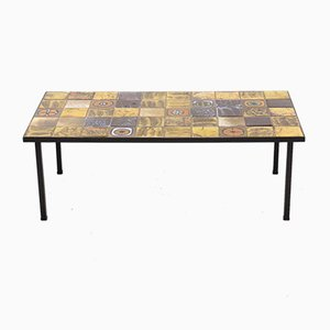 Ceramic & Metal Coffee Table, 1960s
