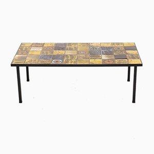 Table Basse en Céramique et Métal, années 60