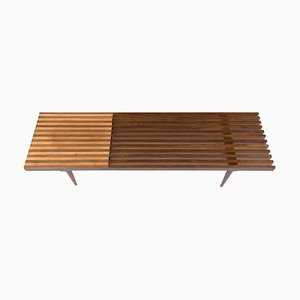 Mid-Century Modern Slatted Bench, 1960s