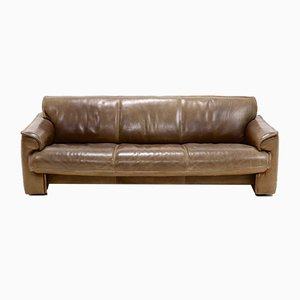 Leather Sofa by Hugo de Ruiter for Leolux, 1970s