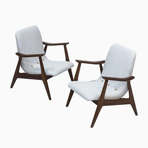Lounge Chairs by Louis van Teeffelen for WéBé, 1950s, Set of 2