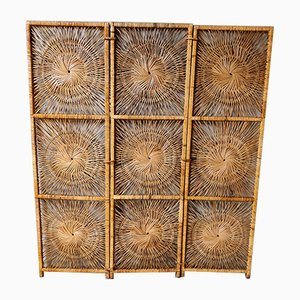 Rattan Room Divider from Rohé Noordwolde, 1960s