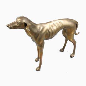 Statue Mid-Century pour Chien Whippet Greyhound en Laiton