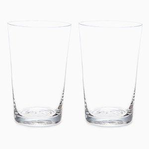 Copas de vino cristal rojo de Deborah Ehrlich. Juego de 2