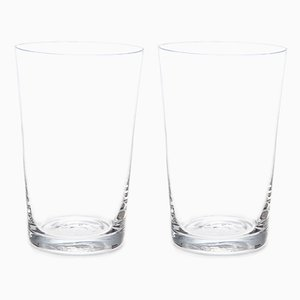 Simple Crystal Red Wine Glasses by Deborah Ehrlich, Set of 2