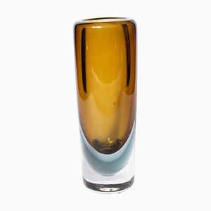 Vaso in vetro di Vicke Lindstrand per Kosta, anni '70