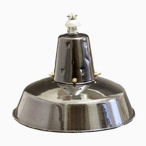 Mid-Century Industrial Enamelled Pendant Lamp