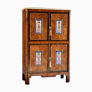 Antique French Rosewood and Kingwood Escritoire Cabinet