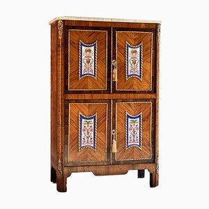 Armario francés antiguo de palisandro y madera real