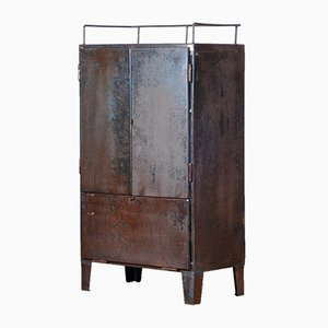Industrial Iron Cupboard, 1960s