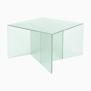 Medium Satin White Aspa Side Table by MUT Design