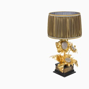 Gilt and Silvered Brass Table Lamp, 1960s