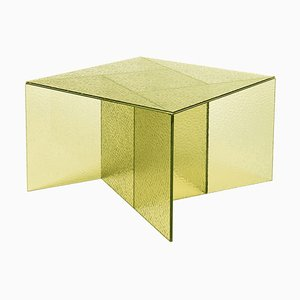 Mesa auxiliar Aspa mediana en amarillo de MUT Design