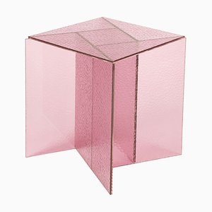 Mesa de centro Aspa pequeña en rosa de MUT Design