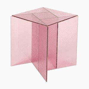 Rosafarbener kleiner Aspa Couchtisch von MUT Design