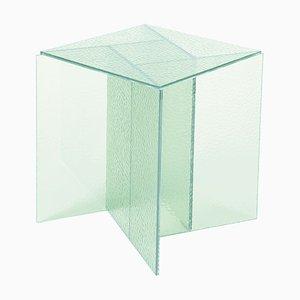 Mesa de centro Aspa pequeña en blanco satinado de MUT Design
