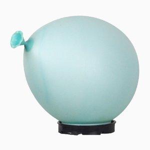 Lámpara de mesa Balloon vintage en azul de Yves Christin para Bilumen, años 80