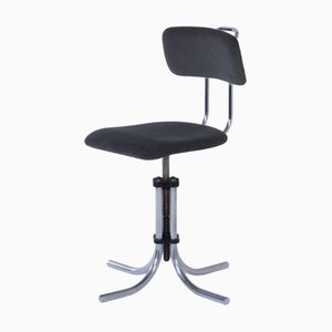 Black Model 132 Swivel Desk Chair from Fana Rotterdam, 1950s