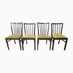 Deutsche Esszimmerstühle aus Holz, 1950er, 4er Set