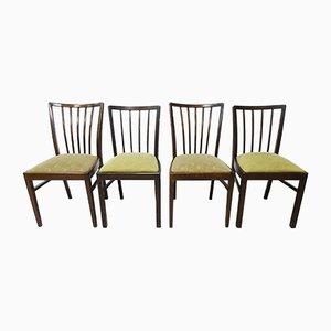 German Wooden Dining Chairs, 1950s, Set of 4