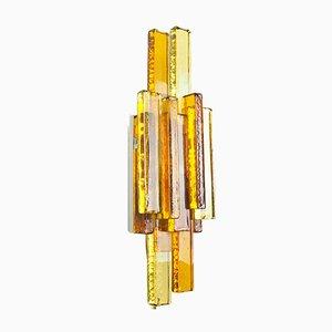 Applique in vetro ambrato di Svend Aage Holm Sørensen per Holm Sørensen & Co, anni '60