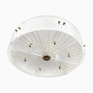 Large Crystal Ceiling Lamp by Carl Fagerlund for Orrefors, 1960s