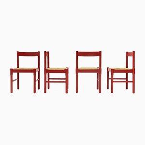 Chaises de Salle à Manger Modèle Carimate par Vico Magistretti pour Cassina, 1960s, Set de 4
