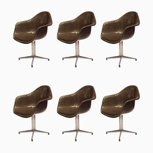 Fiberglass Dining Chairs by Charles & Ray Eames for Vitra, 1970s, Set of 6