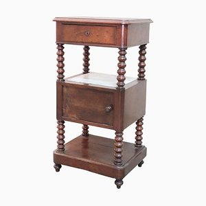 Antique Italian Walnut Nightstand,1840s