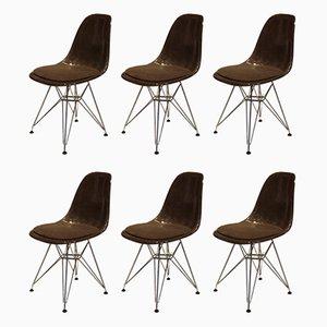Chaises de Salle à Manger en Fibre de Verre par Charles & Ray Eames pour Herman Miller, 1970s, Set de 6