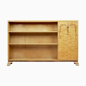 Scandinavian Art Deco Birch Bookcase, 1930s
