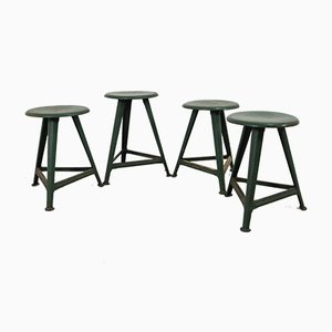Vintage German Stools by Robert Wagner for Rowac, 1930s, Set of 4