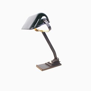 Enamel Reflector Table Lamp from Erpe, 1940s