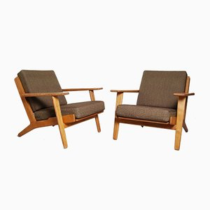Danish Model GE-290 Lounge Chairs by Hans J. Wegner for Getama, 1960s, Set of 2