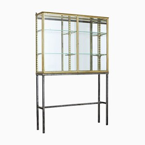 French Glazed Brass Cabinet from Siegel, 1920s