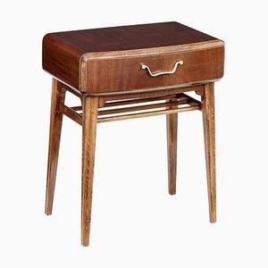 Nachttisch aus Mahagoni von Axel Larsson für Bodafors, 1950er