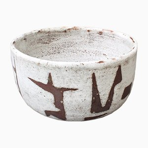 Mid-Century French Ceramic Bowl by Jean Rivier, 1960s