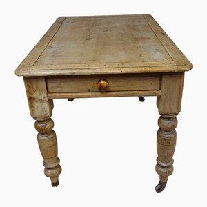Mesa de cocina victoriana antigua