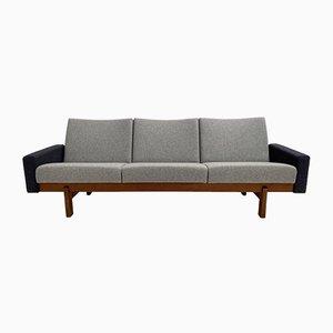 Vintage Sofa mit Gestell aus Teak von Yngve Ekström für Swedese, 1960er