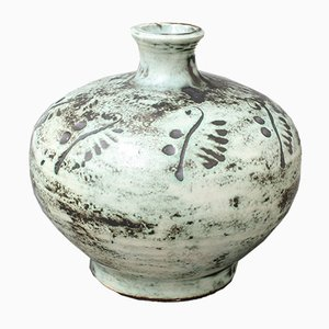 Vase Mid-Century en Céramique par Jacques Blin, France, 1950s